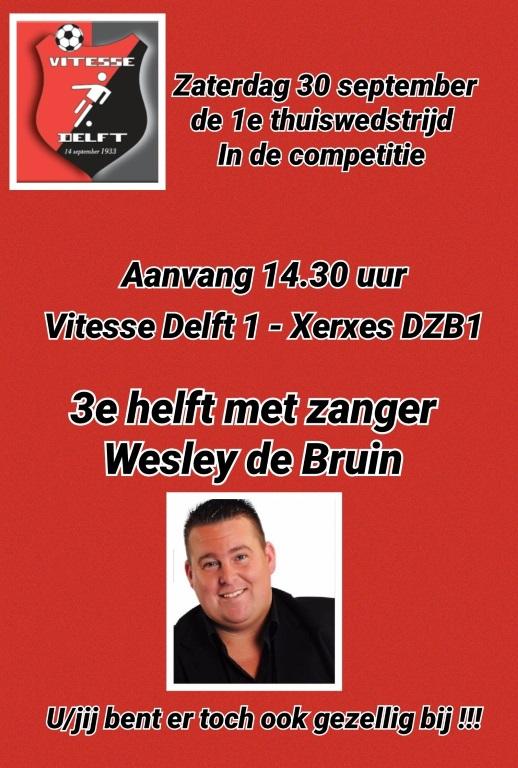 30 september 3e helft met zanger Wesley de Bruin