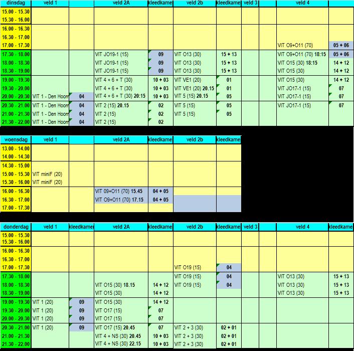 Trainingsschema week 36