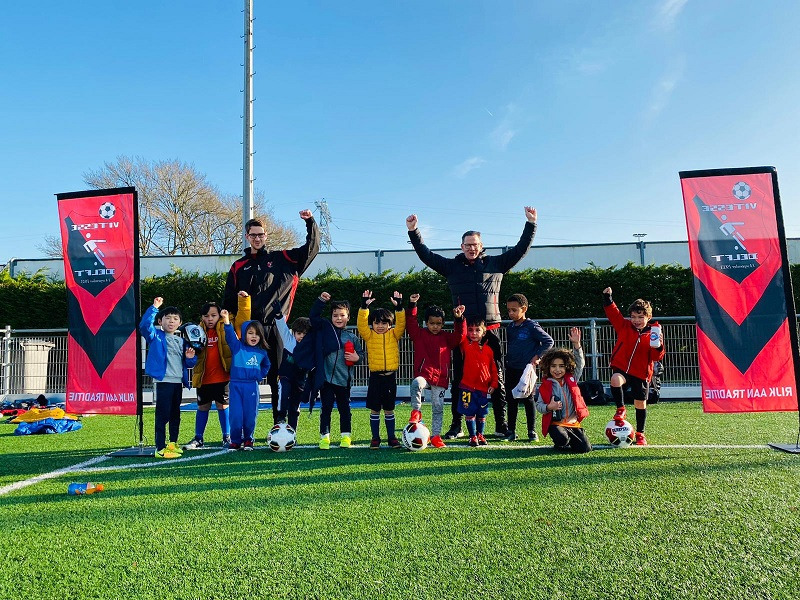 Mini's voetbal bij Vitesse Delft