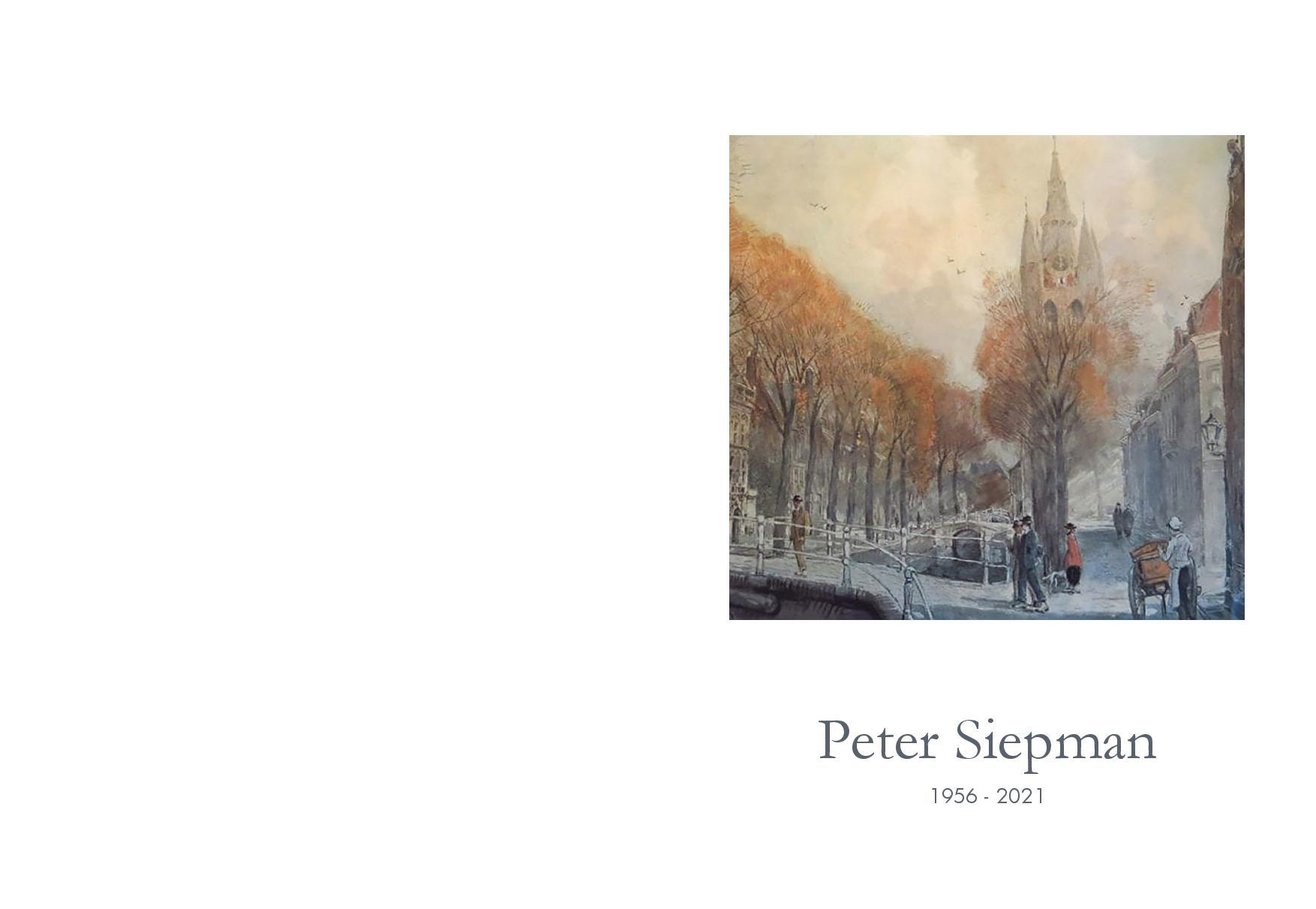 Online Condoleance voor Peter Siepman